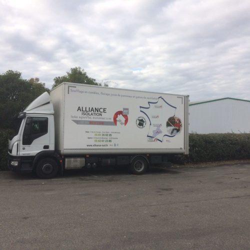 alliance isolation vehicule entreprise occitanie haute garonne tarn isolation par soufflage